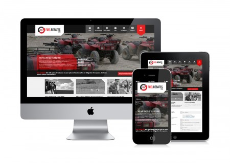 web design for fuel rebates